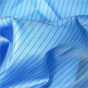 5mm stripe twill polyester antistatic tenunan kain untuk pakaian antistatik