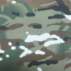 teflon 100% polyester tenunan kain kamuflase hujan jaket militer tahan air luar ruangan