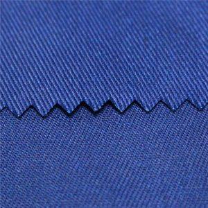 tc polyester katun polos dan twill kain dicelup aktif dan cetak digital tahan api workwear kain poplin seragam